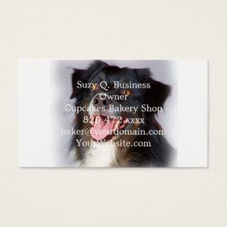 Dog painting - dog art - pet art business card