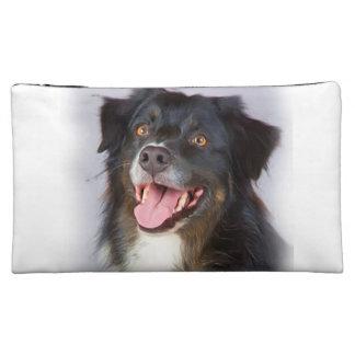 Dog painting - dog art - pet art cosmetic bags