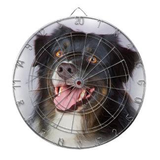 Dog painting - dog art - pet art dartboard