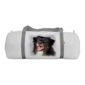 Dog painting - dog art - pet art gym bag