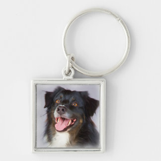 Dog painting - dog art - pet art keychain