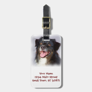 Dog painting - dog art - pet art luggage tag