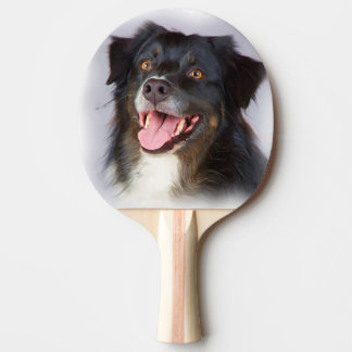 Dog painting - dog art - pet art Ping-Pong paddle