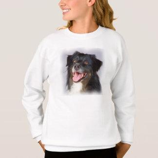 Dog painting - dog art - pet art sweatshirt