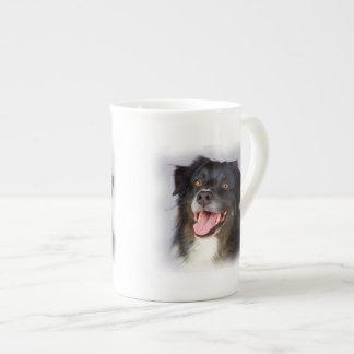 Dog painting - dog art - pet art tea cup