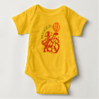 Dog Papercut Chinese New Year 2018 Y Baby Bodysuit