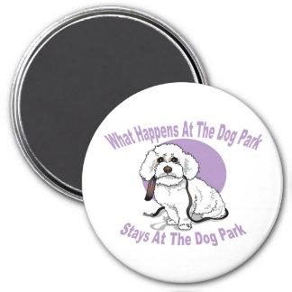 Dog Park 3 Inch Round Magnet