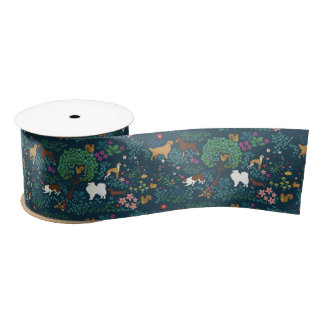 Dog Park by Breed Collection Satin Ribbon