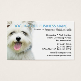 Dog parlour pet care Personalized Business Card