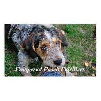 Dog pathos petsitting business card