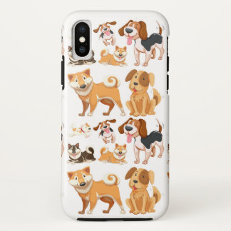 Dog Pattern iPhone X Case