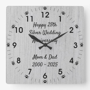 Happy 25th Mom Dad Wedding Anniversary Gifts Zazzle Ca