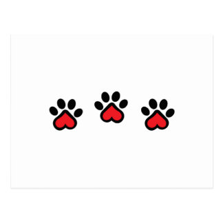 DOG PAW BORDER POSTCARD