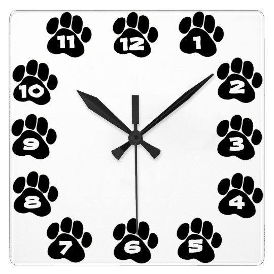 Dog Paw Clock