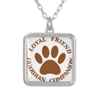 Dog Paw Loyal Friend Silver Plated Necklace