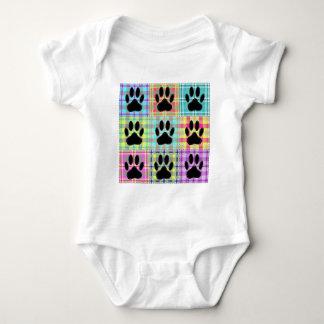 Dog Paw Pattern Quilt Baby Bodysuit