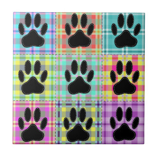 Dog Paw Pattern Quilt Tile