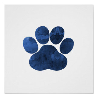Dog Paw Perfect Poster