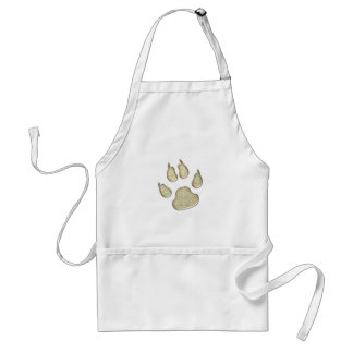 dog paw print adult apron