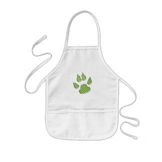 dog paw print kids' apron