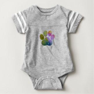 Dog Paw Print Baby Bodysuit