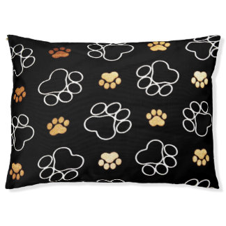 Dog Paw print Design Large Dog Bed
