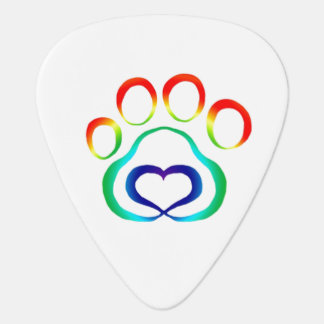 Dog Paw Print Guitar Pick