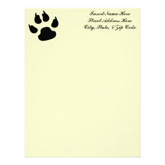 Dog Paw Print Letterhead