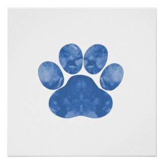 Dog Paw Print Perfect Poster