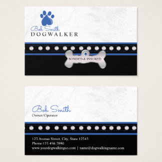 Dog paw print| personalized name business card