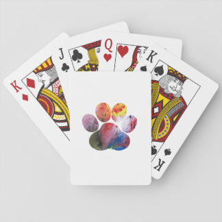 Dog Paw Print Playing Cards