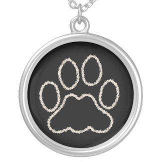 Dog Paw Print Sterling Necklace Jewelry