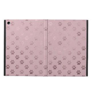 Dog Paw Print Vintage Rose Pink Background iPad Air Case