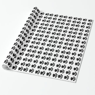 Dog Paw Print Wrapping Paper Gifts and Holidays
