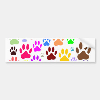 Dog Paw Prints All Over Bumper Sticker