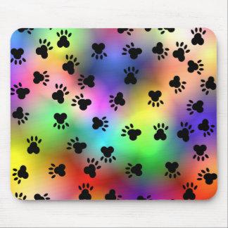 Dog Paw Prints Mousepad