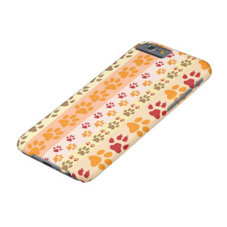 Dog Paw Prints Pattern Barely There iPhone 6 Case
