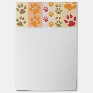 Dog Paw Prints Pattern Post-it Notes