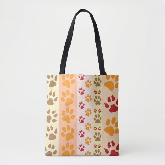 Dog Paw Prints Pattern Tote Bag