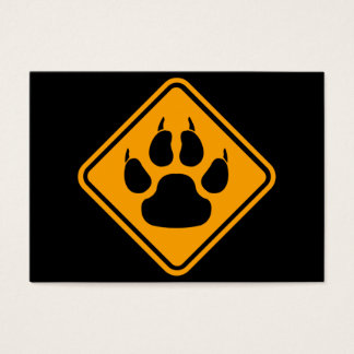 Dog Paw Sign Business Card