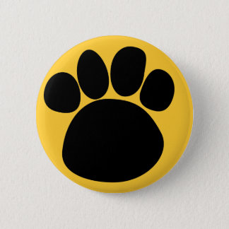 Dog Paw Track Pin Back Button 2