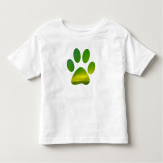 Dog Pawprint Aurora Northern Lights Novelty Tshirt