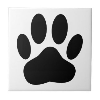 Dog Pawprint Tile