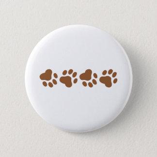 Dog Paws 2 Inch Round Button