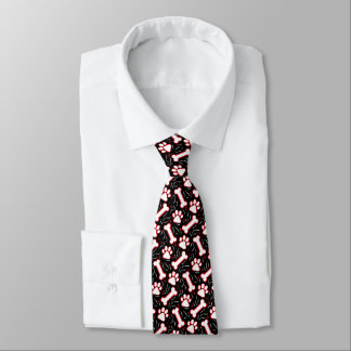 Dog Paws and Bones Funny Funky Party Tie