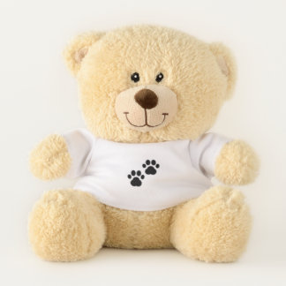 Dog Paws on White Teddy Bear