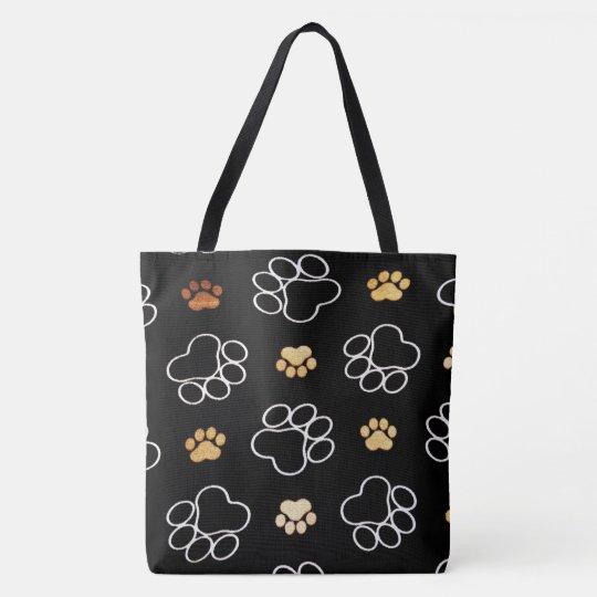 Dog Paws pattern Tote Bag