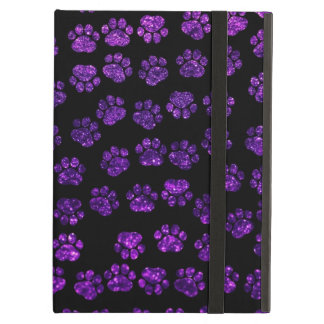 Dog Paws Paw-prints Glitter - Purple Black iPad Air Covers