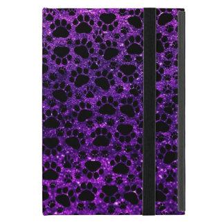 Dog Paws, Paw-prints, Glitter - Purple Black iPad Mini Case