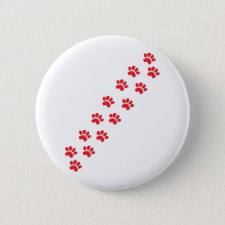 Dog Paws Prints 2 Inch Round Button
